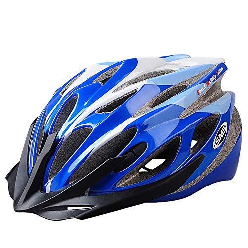 Fahrradreithelm atmungsaktiver Helm Reitzubehör leichter Helm Schutzausrüstung Skating Helm verstellbarer Helm-Blau passt 55-60cm