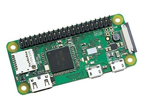 Raspberry PI Zero W mit Header (eingelöteter Stiftleiste), WLAN, Bluetooth, 1GHz, 512MB RAM