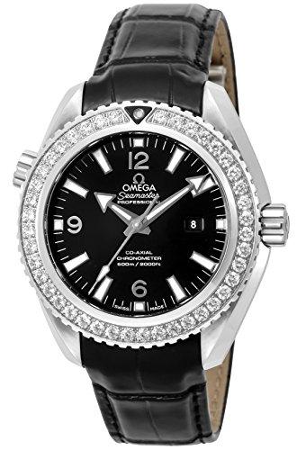 [オメガ] 腕時計 Seamaster Planet Ocean ブラック文字盤 コーアクシャル自動巻き ダイヤモンド 600m防水 232.18.38.20.01.001 レディース 並行輸入品 ブラック