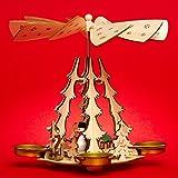 Sikora P29 Holz Teelicht Weihnachtspyramide für 4 Teelichte H: 20 cm