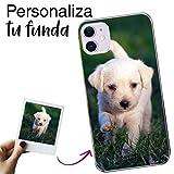 Mookase Funda para iPhone 11 XI Personalizada para TU MÓVIL con Imagen O Texto, Carcasa Personalizable, Gel Flexible, Borde Trasparente, Regalo Original