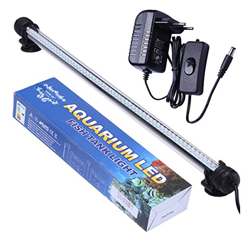 Tingkam® 48CM 57LED Weiß Wasserdicht IP68 Fische Licht Aquarium Light Aquariumleuchte Unterwasser