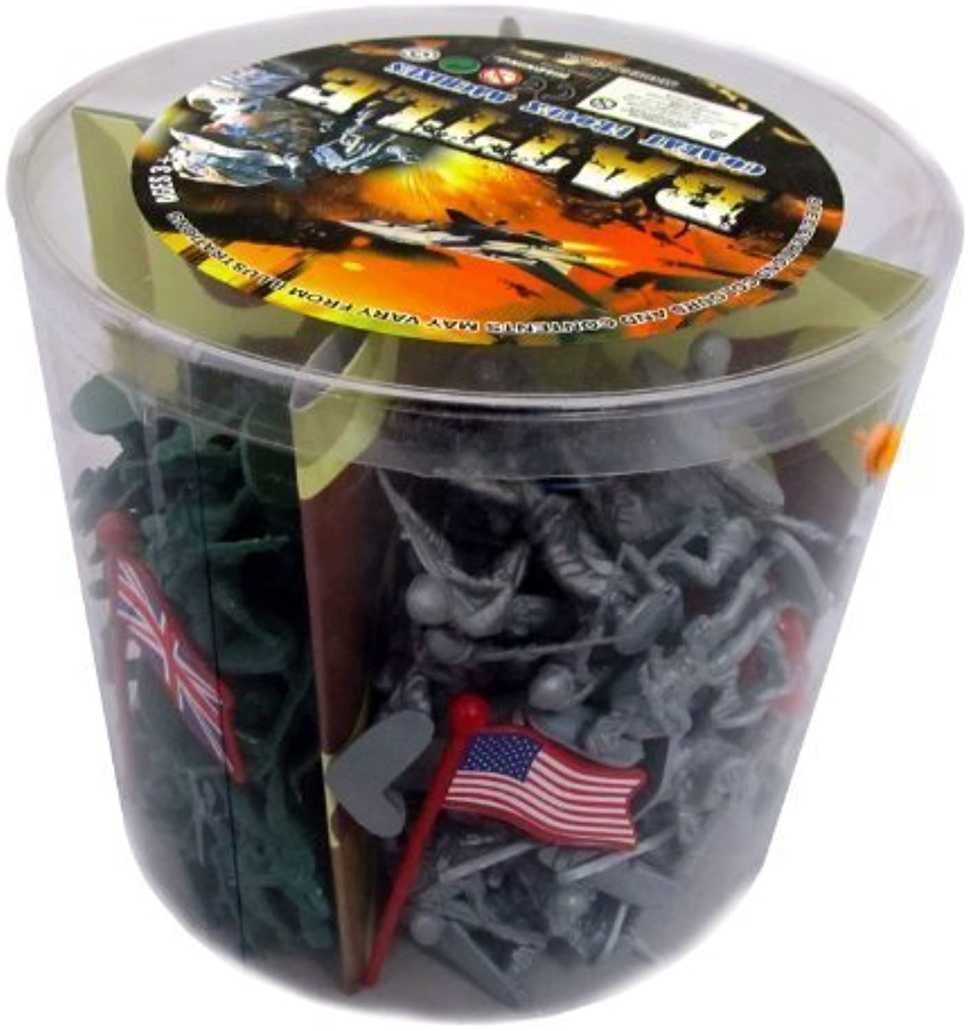 Action figures 200 Pieces Army Men Toy Soldiers (World War 2) by Liberty Imports