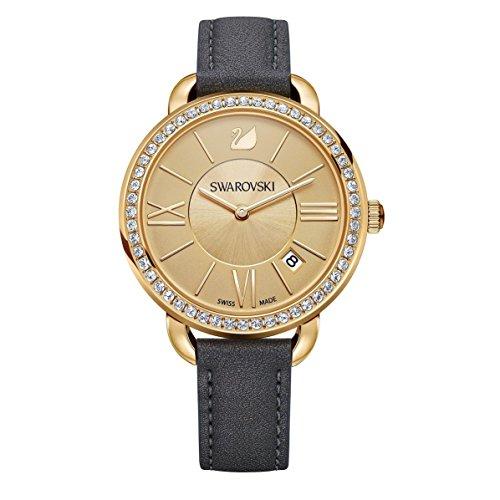 Swarovski Damen Analog Quarz Uhr mit Leder Armband 5221141