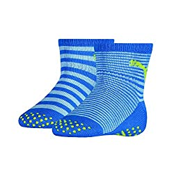 PUMA ABS Baby Socks 6er Pack, Size: 19-22; Color: Blue Green Combo (634)