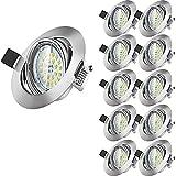 Wowatt 10x LED Einbaustrahler Schwenkbar LED...