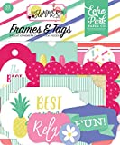 """Best Summer Ever Frames & Tags Ephemera includes 33 shapes Echo Park Paper Company Package Length of the Product: 4.0"""""""