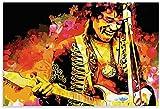 HuGuan Poster Und Gedruckte Jimi Hendrix Musiker Gitarre