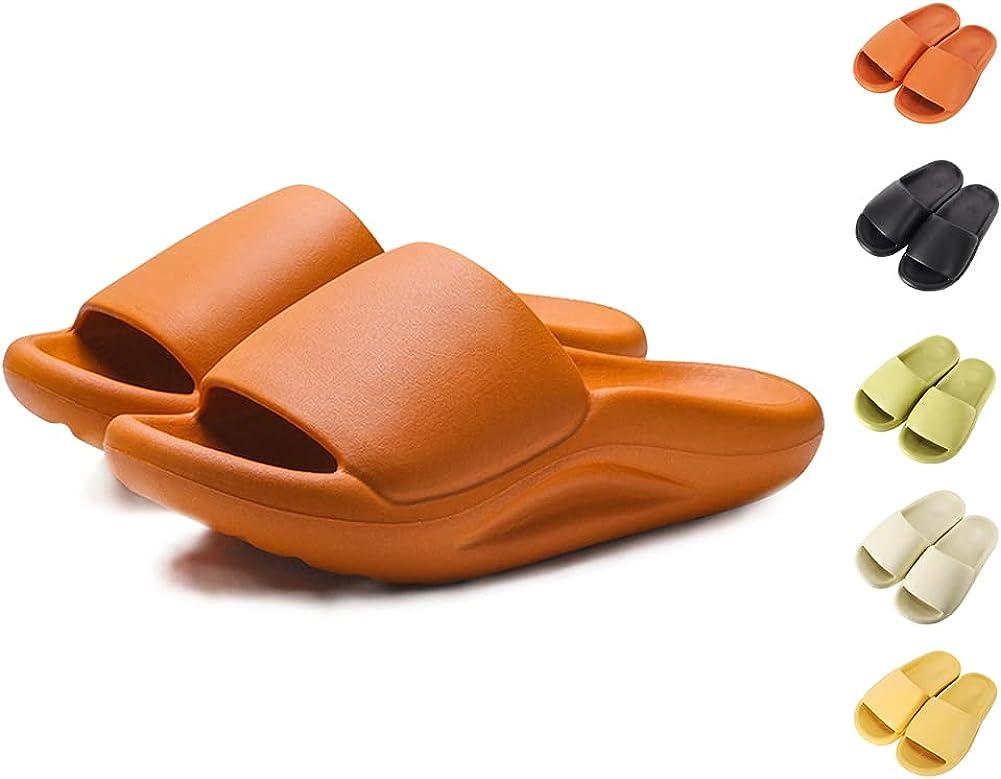 Royal Matrix Women's Non-Slip Pillow Slide Slippers Thickened So