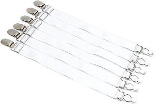 Lady Seven Pack of 6 Adjustable Multifuction Elastic Stocking Clip Suspender Garter Belt Fixing Clip Non-Slip Boot Clip