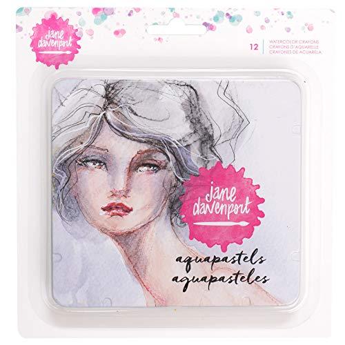 Jane Davenport Set pasteles acuarelables, Cera, Multicolor, 13 x 12 cm