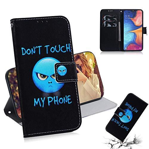 Qiaogle Funda Huawei Y5 2019 / Honor 8S - PU Cuero Billetera Clamshell Carcasa Cover para Huawei Y5 2019 / Honor 8S - TX41 / Don't Touch My Phone