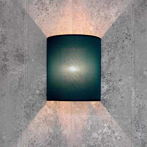 Wandlamp stoffen kap petrol halfrond E27 loft design wandlamp woonkamer hal slaapkamer ALICE