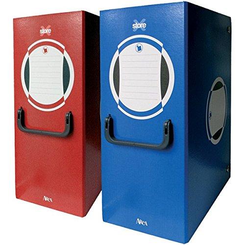Arca 0262RO Cartella Portaprogetto con Maniglia, Dorso 16, Rosso, carta/cartone, 250 x 340 mm