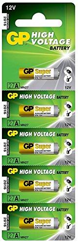 GP Batteries Lot de 10 piles alcaline 12 V 27 A