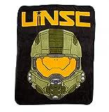 Halo UNSC Master Chief Fleece Plush Throw BLANKET