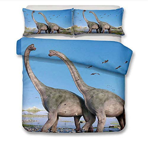 Qiutian Park dinosaurus bed set jongen beddengoed kinderen beddengoed 3D bed dekbedovertrek jeugd tweepersoonsbed beddengoed 180x210cm 03