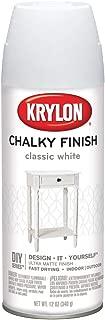 Krylon K04101007 Chalky Finish Spray Paint, Classic White, 12 Ounce