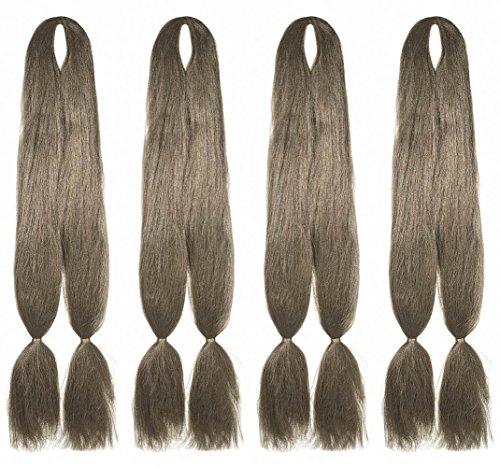 American Dream Premium Kanekelon Tresse pour cheveux Tissages, Dreads et son Style avant Garde Creative, Medium Ash Brown, Lot de 4