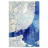 artboxONE Poster 120x80 cm Städte Lissabon Portugal Blue