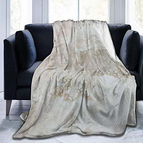 AEMAPE Manta de Tiro Alfombra mullida de mármol Gris Oficina para Descansar para Mujeres Alfombrilla para Dormir Funda de Franela para Invierno 50 'x 60'