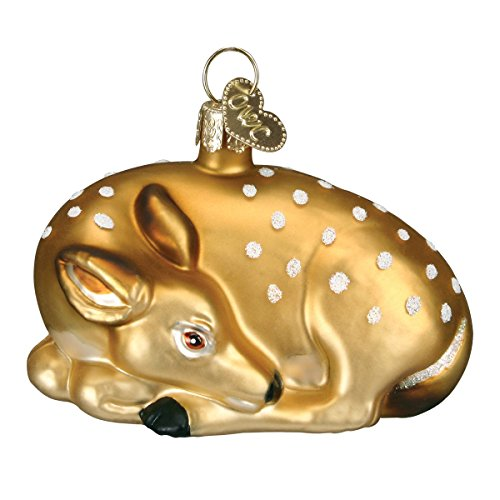 Old World Christmas Ornaments: Animal Collection Glass Blown Ornaments for Christmas Tree Fawn