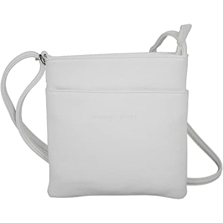 J JONES JENNIFER JONES Kleine Damentasche Umhängetasche Schultertasche Clutch Farbe Weiß