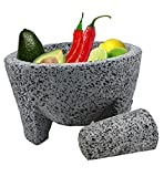 TLP Molcajete authentic Handmade Mexican Mortar and Pestle 8.5 by TheLatinProducts