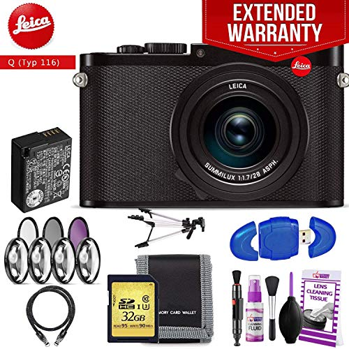 Fantastic Deal! Leica Q (Typ 116) Digital Camera (Black) Advanced Accessory Kit + Extended Warranty