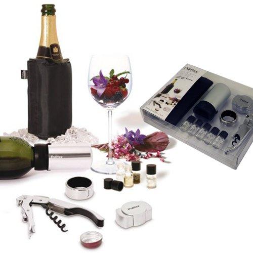 Pulltex Vin Ouvre-Bouteille Set de vin et Presse-Bouchon Anti-Pluie