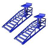 HENGMEI Rampas de elevación para vehículos Rampas de carga caballete de trabajo hidráulico para Mantenimiento de Coche