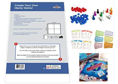 Erstelle Dein eigenes Opoly-Spiel (Blanko-Spielbrett, Box & Opoly-Zubehör) (Erstelle Dein eigenes Opoly-Spiel)