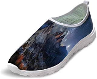 Night Comfortable Running ShoesAbstract Natural Composition with Lonely Tree in Park Crescent Moon in Sky Decorative for Men Boys,US 6.5