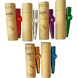 *CAILI Joc de 6 Acolorits Metall *Kazoo,*Kazoo metàl·lic Qualitat d'empaquetat de Regal Bell (un Bon company per a una Guitarra, *Ukelele)