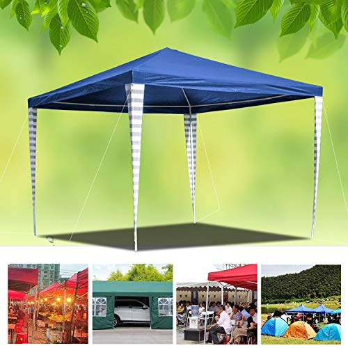 wolketon 3x3M Waterproof Gazebo Tent Marquee Awning Canopy with Powder Coated Steel Frame for Outdoor Wedding Garden Party