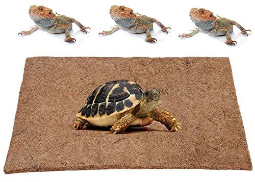 GZGZADMC Tapis pour reptile en fibre de coco naturelle, tapis pour reptile en fibre de coco écologique, accessoires pour réservoir de dragon barbe, tapis de literie pour terrarium - 50 x 30 cm