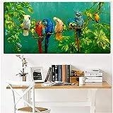 LIANGX Leinwand Wandbilder Poster Papagei Vogel auf Zweigen
