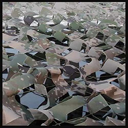 Red de camuflaje, red de camuflaje, rollo a granel, malla, cubierta, persiana, liviana, duradera, de diferentes tamaños para sombrilla, caza, tiro, ciego, camping, deco(Size:4×5m/13.1×16.4ft,Color:DG)