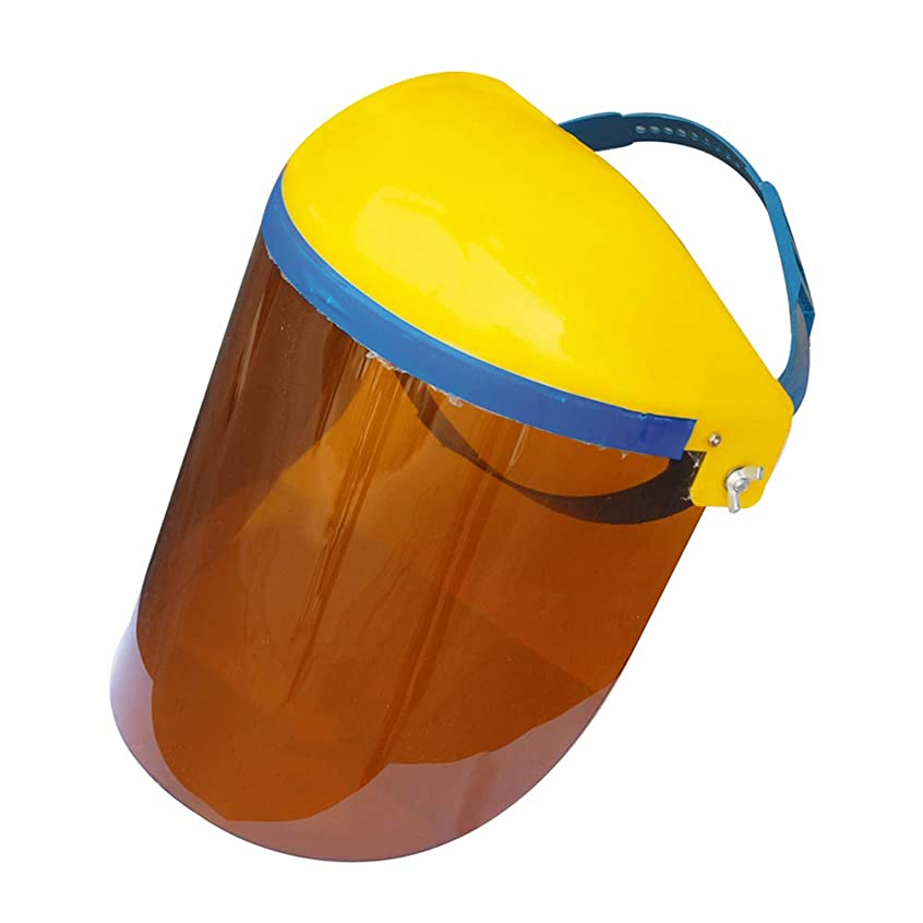 ダイアクリティカルおじさん一部BESTONZON キッチン調理両面防曇防油スプラッシュクリアフェイスマスクフェイスシールドプロテクター(ブラウン)