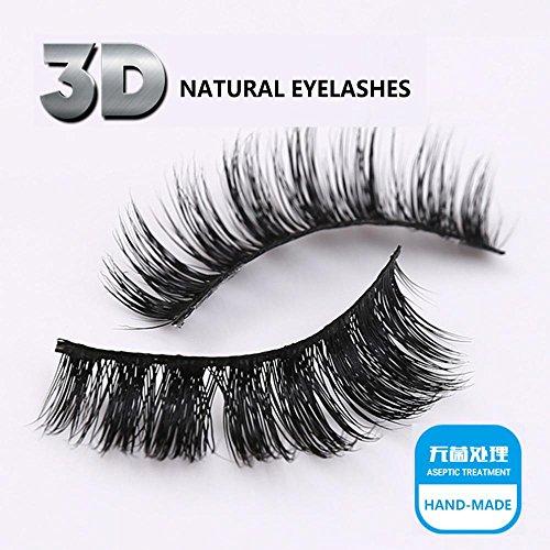 Faux cils - 1 paire de paquets de haute qualité Natural Faux cils 3D naturel Look pour maquillage Extension de cils , 3D-60