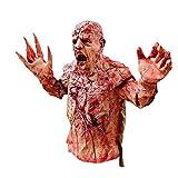 CttiuliMiju Horror de Halloween de la casa encantada Puntales Escapes Trajes de látex asustadiza del Zombi putrefacto