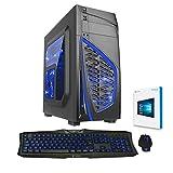 Fierce VULTURIS - 4,4GHz AMD X4 880K Vierkern übertaktete Prozessor, NVIDIA GTX 750 Ti 2GB Grafikkarte, 16GB RAM 1TB Festplatte Gaming PC Desktop Computer Pack - HDMI/USB3 - 228378