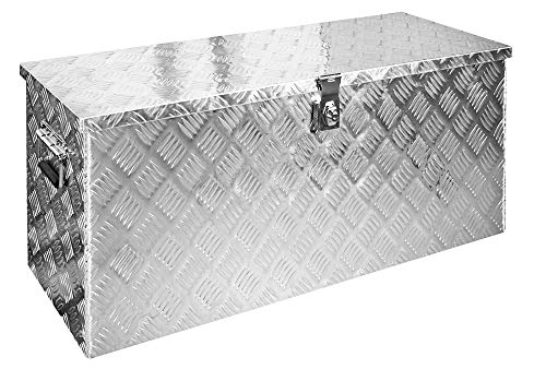 Alumium Truckbox Box Anhängerbox Alubox Deichselbox 10 Größen Trucky, Modell:D120 (95 x 41 x 46.5 cm)