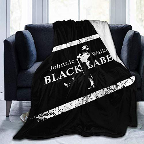 Johnnie Walker Black Label - Manta de forro polar ultrasuave (152,4 x 127 cm)