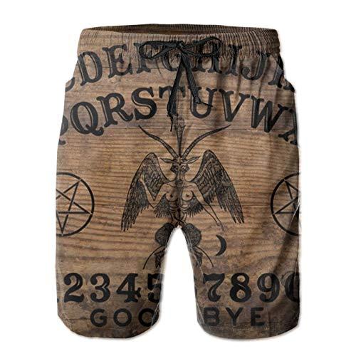 ZORIN Bañador para hombre clásico Ouija Board Magic Plank Beach Board Shorts
