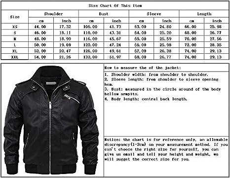 chouyatou Mens Casual Full Zip Lightweight Moto Pu Leather Quilted Bomber Jacket Epaulet
