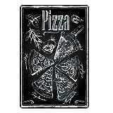 skygvvege Metall Blechschild Wandbild Pizza Retro Platte