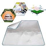 El Dormir del Papel de Aluminio Resistente al Agua de EVA Manta colchón Mat Aluminio para Acampar al Aire Libre Senderismo Comida campestre del Recorrido