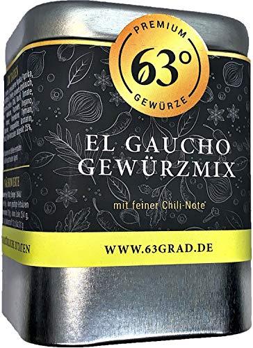63 Grad - El Gaucho Gewürzmix - Grillgewürz mit feiner Chili Note (90g)