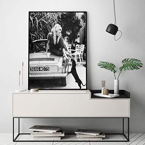 Puzzle 1000 Piezas Fotos de Modelos Famosos en Blanco y Negro Vintage de Nuevo Arte decoración de Pared Cartel de Moda Francesa Impresiones en Lienzo Puzzle 1000 Piezas clemen50x75cm(20x30inch)